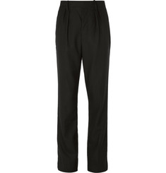 Burberry Runway Tapered Pleated Wool and Mohair-Blend Trousers