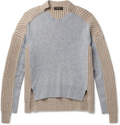 Burberry Runway Two-Tone Panelled Cashmere Sweater