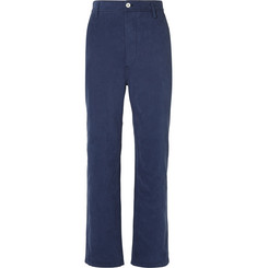 Burberry Runway Wide-Leg Cotton-Corduroy Trousers