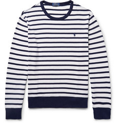 Polo Ralph Lauren Striped Loopback Cotton-Jersey Sweatshirt