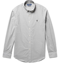 Polo Ralph Lauren - Button-Down Collar Checked Cotton-Poplin Shirt