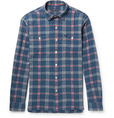 Polo Ralph Lauren Checked Brushed Linen and Cotton-Blend Twill Shirt