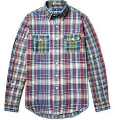 Polo Ralph Lauren Slim-Fit Button-Down Collar Madras-Checked Cotton Shirt