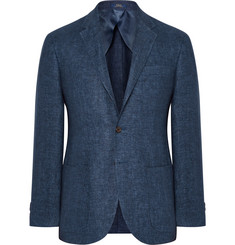 Polo Ralph Lauren Blue Morgan Linen-Twill Blazer