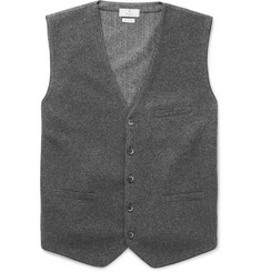 Hackett Flannel and Herringbone Wool Waistcoat
