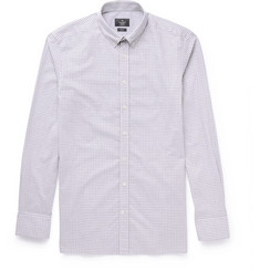 Hackett Brompton Slim-Fit Button-Down Collar Gingham Cotton Shirt
