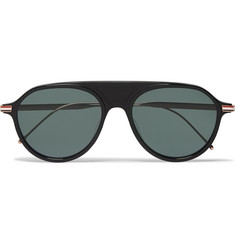 Thom Browne - Aviator-Style Acetate and Enamelled Gold-Tone Sunglasses