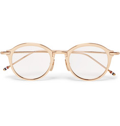 Thom Browne Round-Frame Gold-Tone Titanium Optical Glasses