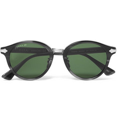 Gucci Round-Frame Acetate and Titanium Sunglasses