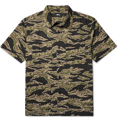 Stüssy Safari Camouflage-Print Cotton-Seersucker Shirt