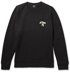 Stüssy Hippie Crawl Printed Fleece-Back Cotton-Blend Jersey Sweatshirt