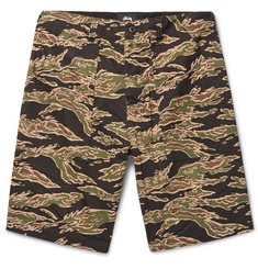 Stüssy Military Camouflage-Print Cotton-Seersucker Shorts