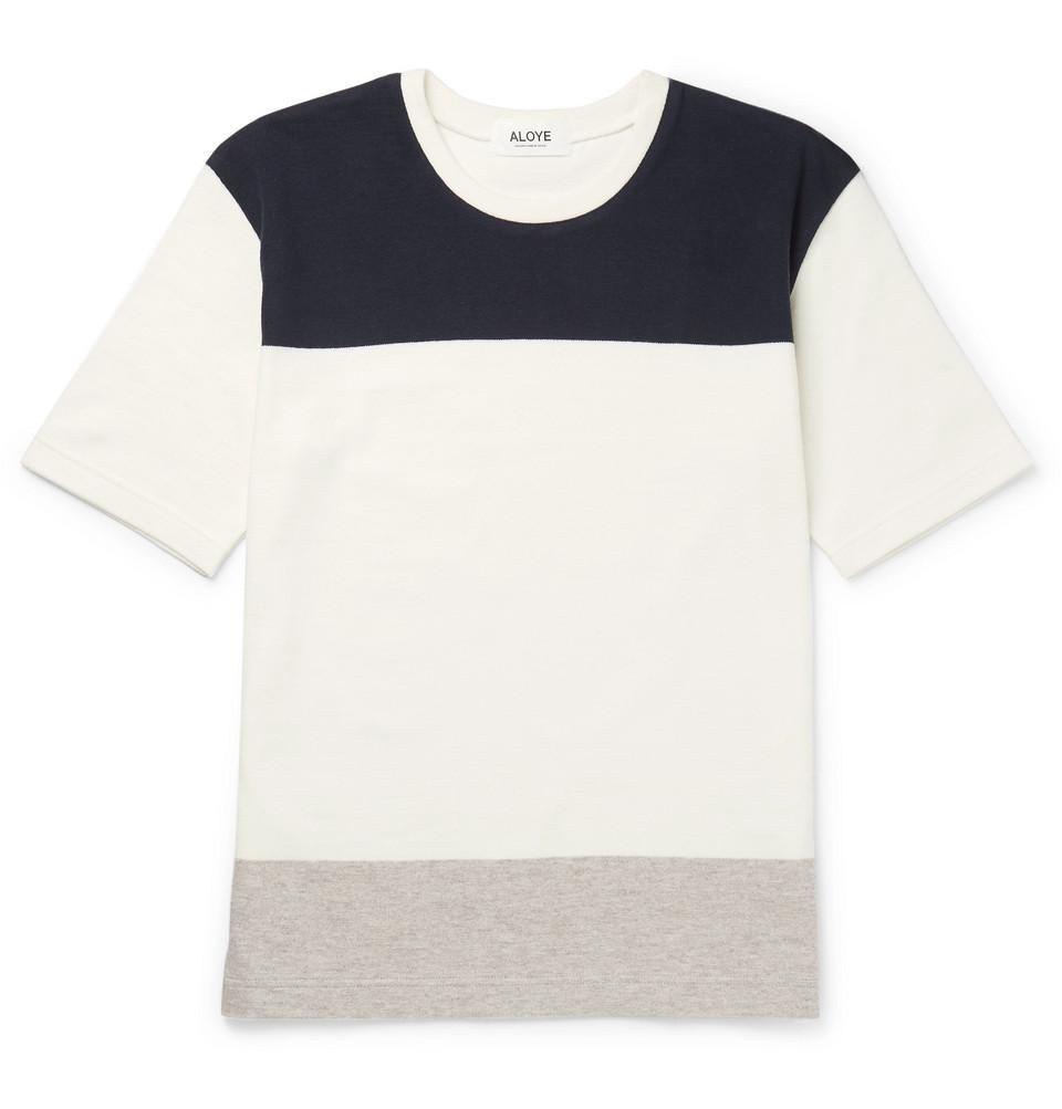 + G.f.g.s. Colour-block Panelled Cotton T-shirt - White