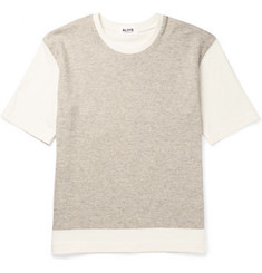 Aloye + G.F.G.S. Colour-Block Knitted Cotton and Yak-Blend T-Shirt