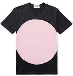 Aloye Circle Colour-Block Cotton-Jersey T-Shirt