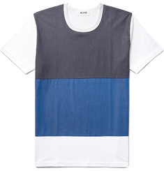 Aloye Colour-Block Panelled Cotton T-Shirt