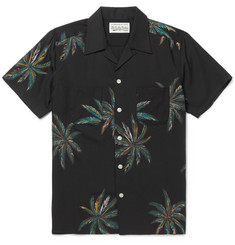 Wacko Maria Palms Camp-Collar Printed Voile Shirt