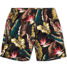 Stüssy Slim-Fit Long-Length Printed Swim Shorts