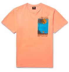 Stüssy - Eventide Printed Cotton-Jersey T-Shirt