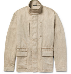 James Perse Cotton and Linen-Blend Utility Jacket