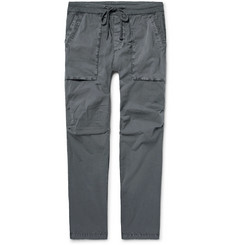 James Perse Slim-Fit Stretch-Cotton Poplin Cargo Trousers
