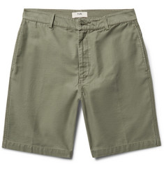 Folk Shadow Slim-Fit Slub Cotton Shorts