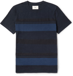 Folk Slim-Fit Striped Cotton-Jersey T-Shirt