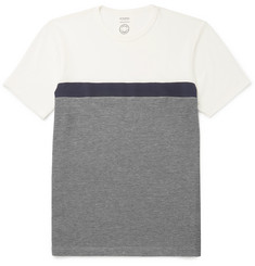 Sunspel + Iffley Road Langley Jersey-Panelled Tech-Piqué T-Shirt