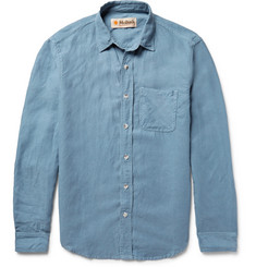 Mollusk Slim-Fit Slub Chambray Shirt
