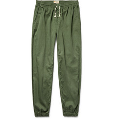 Mollusk - Jeffrey Tapered Cotton-Twill Drawstring Trousers
