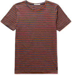Nudie Jeans Ove Striped Organic Cotton-Jersey T-Shirt