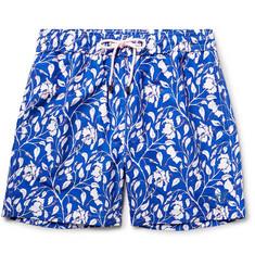 Pink House Mustique Mid-Length Floral-Print Swim Shorts