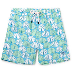 Pink House Mustique Mid-Length Sea Grape-Print Swim Shorts