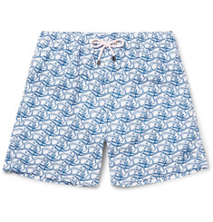 Pink House Mustique - Mid-Length Shark-Print Swim Shorts