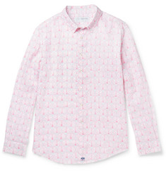 Pink House Mustique Sea Grape-Print Linen Shirt