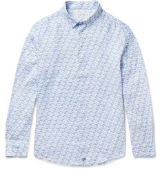 Pink House Mustique Shark-Print Linen Shirt