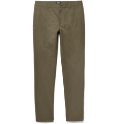 A.P.C. - Slim-Fit Cotton and Linen-Blend Twill Trousers
