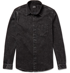 A.P.C. Victor Slim-Fit Washed-Denim Shirt