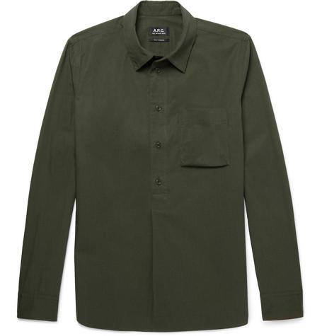 A.p.c. Cottons Soldier Cotton-Poplin Shirt