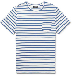 A.P.C. Michael Slim-Fit Striped Cotton-Jersey T-Shirt