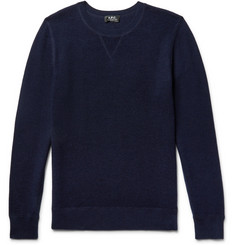 A.P.C. David Textured Wool and Cotton-Blend Sweater