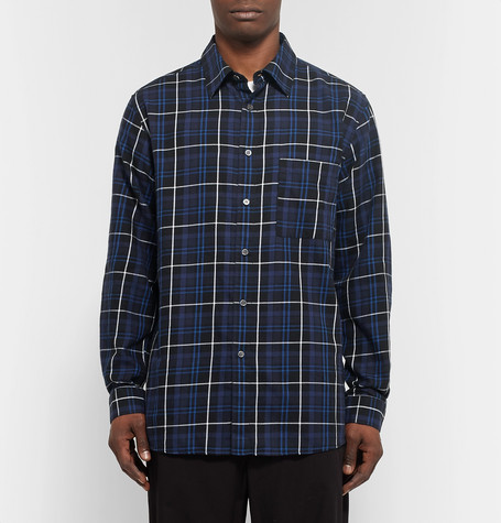 Public School Trin Checked Brushed Cotton Twill Shirt
