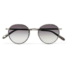 Garrett Leight California Optical Wilson 49 Round-Frame Acetate and Gunmetal-Tone Sunglasses