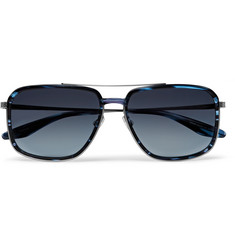 Barton Perreira Magnate Aviator-Style Acetate And Pewter-Tone Sunglasses