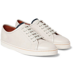 John Lobb - Levah Cap-Toe Brushed-Leather Sneakers