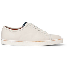 John Lobb Levah Cap-Toe Brushed-Leather Sneakers