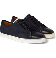 John Lobb - Levah Cap-Toe Suede and Leather Sneakers