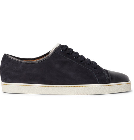 Levah Cap-toe Leather And Suede Sneakers John Lobb o88IR9Y