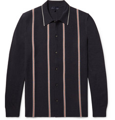 Lanvin Striped Knitted Merino Wool and Cotton-Blend Shirt