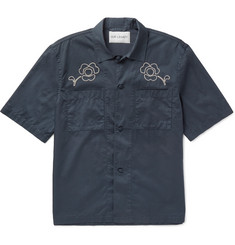 Our Legacy Embroidered Washed-Cotton Satin Shirt